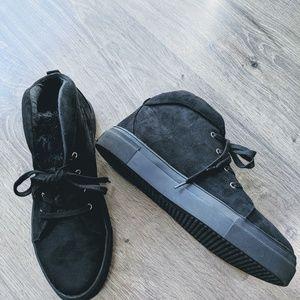Black MIA high top sneakers